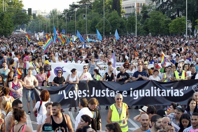 Manifestación del Orgullo Gay, en Madrid.