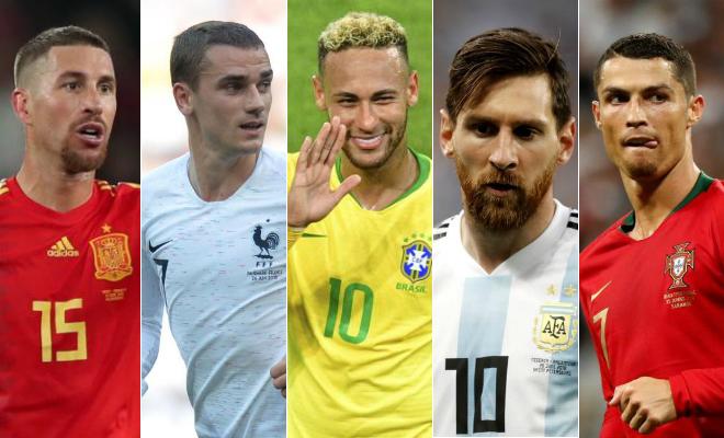 Ramos, Griezmann, Neymar, Messi y Cristiano jugarán con sus...