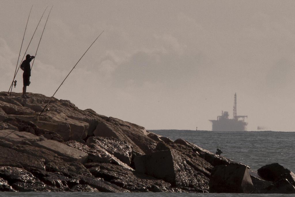 Imagen de la plataforma desde la costa de Castellón