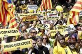 Manifestación en Barcelona del pasado abril contra los encarcelados...