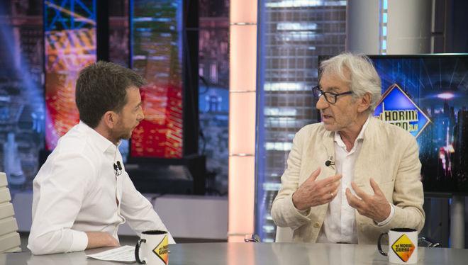 Pablo Motos entrevista a José Sacristán anoche en El Hormiguero.