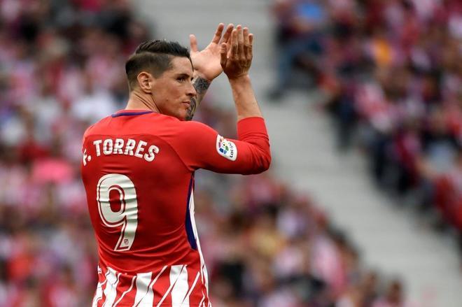Fernando Torres, el día de su despedida del Atlético de Madrid.