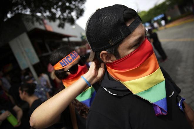 Celebración del Orgullo Gay en Managua.