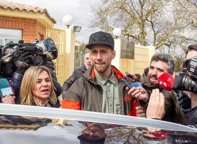 Víctor Rodríguez Ramos, a su salida de prisión.