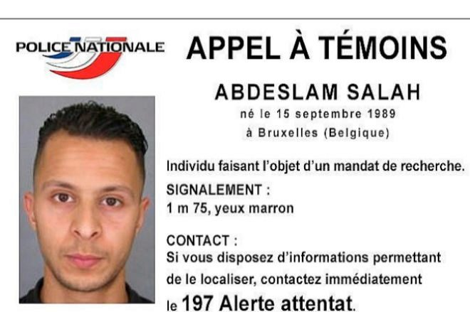 Imagen distribuida por la Policía francesa de Salah Abdeslam tras los atentados de París.