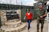 La ministra de Defensa, Margarita Robles, durante su visita al Líbano