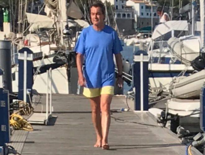 Artur Mas, hace unos días en el puerto de Andratx, Mallorca.