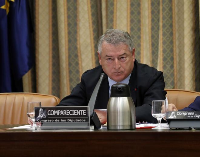 José Antonio Sánchez, en una comparecencia en el Congreso de los...