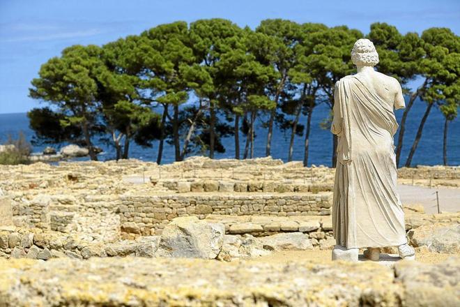 Conjunto histórico de las ruinas gredo romanas de Empúries, en Girona.