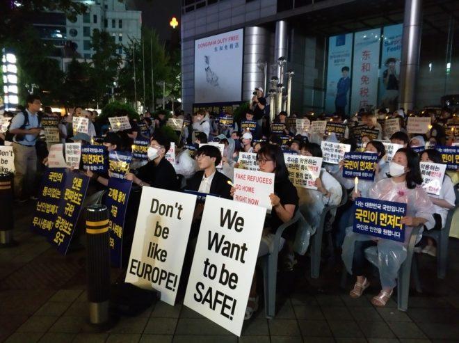 Manifestaciones en varias ciudades en contra de la llegada de