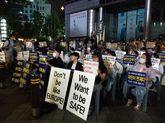 Manifestación contra la inmigración en Seúl.