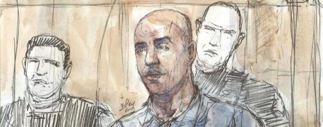 El atracador Redoine Faïd, durante su juicio el pasado febrero.