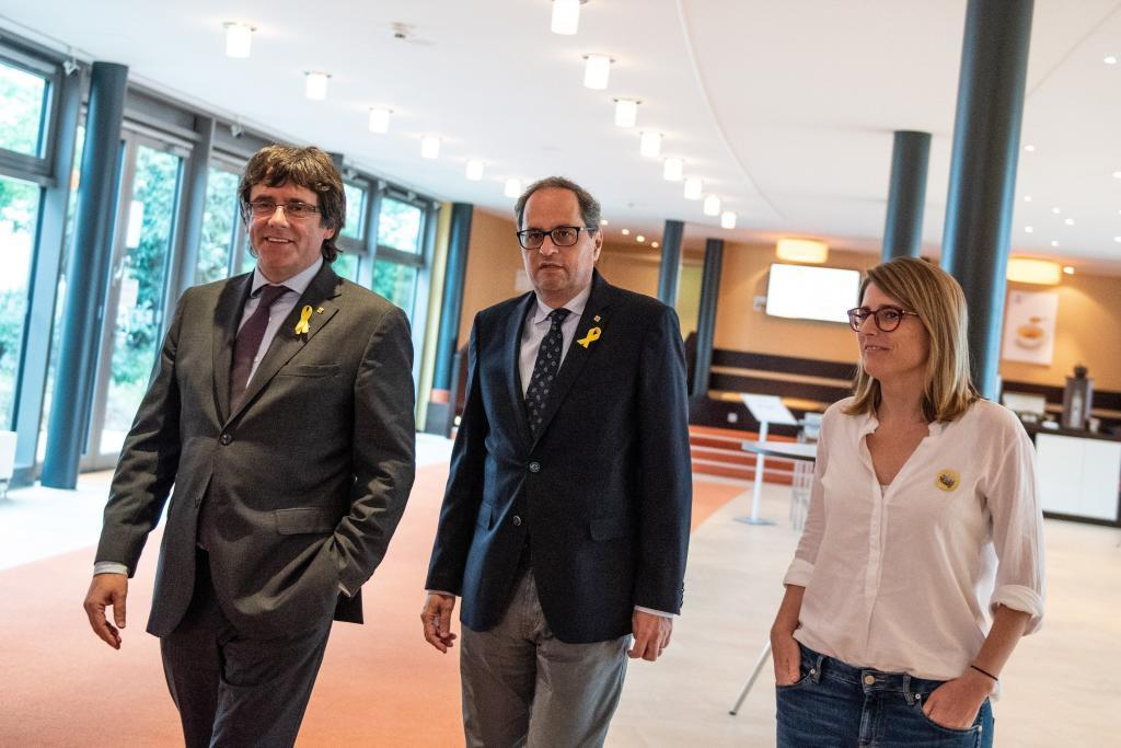 El líder de JxCat, Carles Puigdemont, ha pedido al Govern