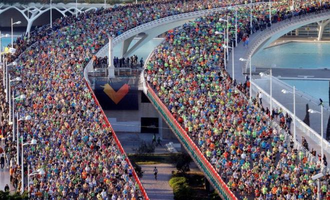 Vista general de la salida del Maratón de Valencia Trinidad Alfonso.