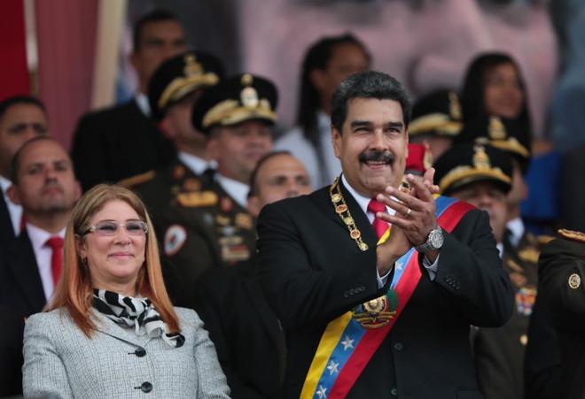 El presidente de Venezuela, Nicolás Maduro, junto a la primera dama, Cilia Flores, en una imagen reciente.