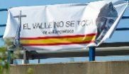 Pancarta en Madrid en defensa del Valle de los Caídos