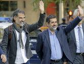Los presidentes de Òmnium Cultural y ANC, Jordi Cuixart y Jordi...