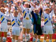 Larsson, Brolin, Ingesson, Ravelli y Kenet Andersson, en el Mundial de 1994.