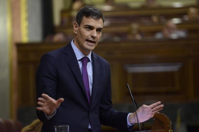 El presidente del Congreso, Pedro Sánchez