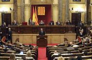 Vista general de un pleno reciente del Parlament.