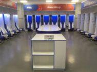 El vestuario de Japón en el Rostov Arena, tras la eliminación ante Bélgica.