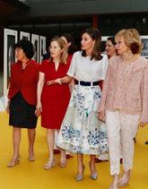 La Reina ha acudido a un acto de la Fundación Mujeres por África,...