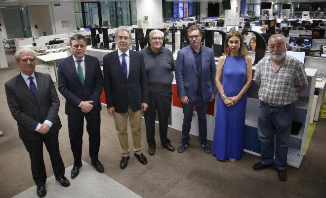 De izquierda a derecha, César Antonio Molina, Aurelio Fernández,...