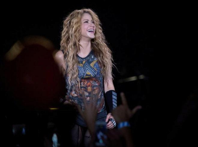 La cantante colombiana Shakira durante el concierto que ofreció la...