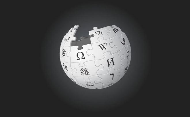 El logo de la Wikipedia se tiñe de negro como protesta