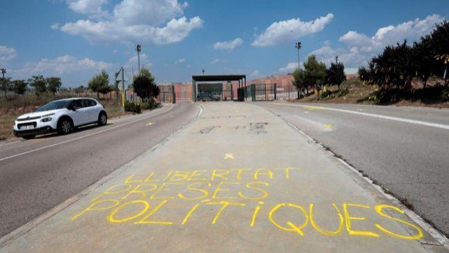 Grafiti cerca de la prisión de LLedoners