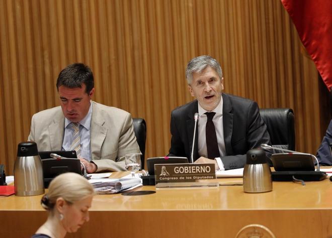 Fernando Grande-Marlaska, durante su comparecencia en la Comisión de...