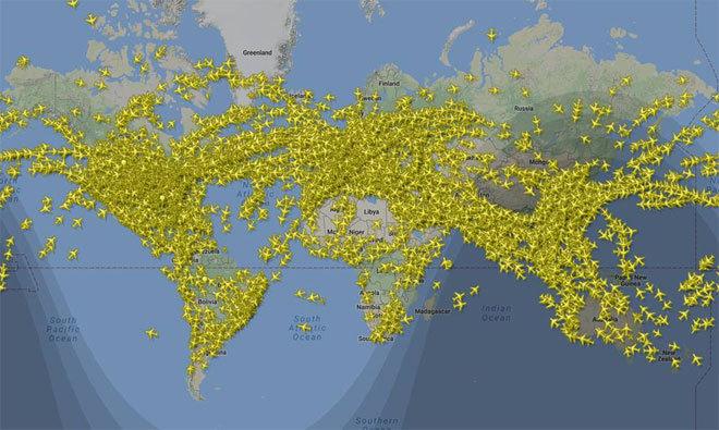 Esta Es La Imagen Del Día Con Más Tráfico Aéreo Del Año Más De 200 000 Vuelos En El Aire El Baúl
