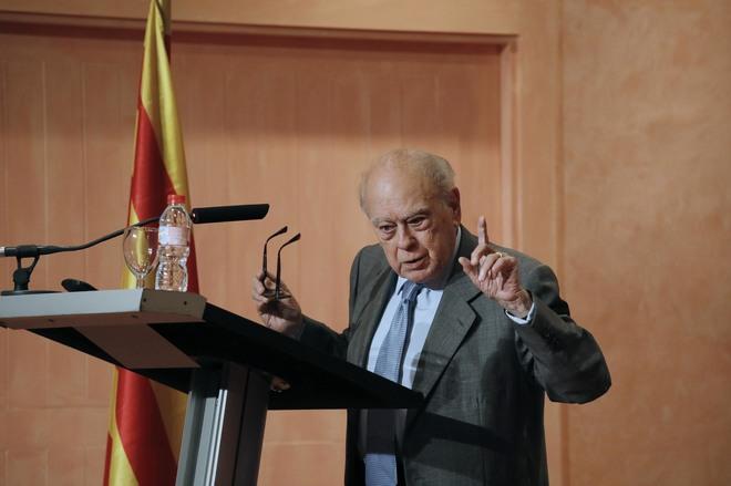 Jordi Pujol Soley, durante su homenaje el pasado mes de mayo en Barcelona.
