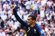 Antoine Griezmann, delantero de Francia, celebra un gol en el Mundial de Rusia.
