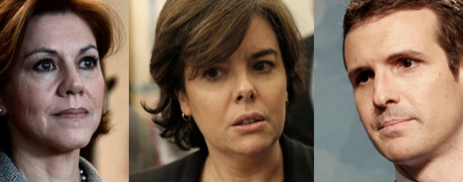 Los tres principales candidatos: María Dolores de Cospedal, Soraya...