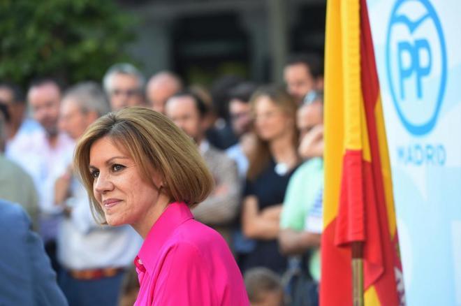 María Dolores de Cospedal, el miércoles, en el acto de cierre de...