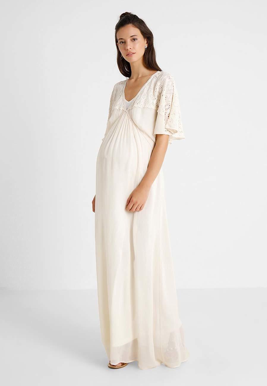 nuevo concepto 25d41 cc7bf 15 vestidos blancos para un 'look' premamá de verano ...