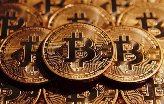 Simulación de bitcoins, la moneda virtual más popular.