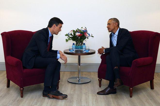 Encuentro entre el presidente del Gobierno, Pedro Sánchez, y el ex...