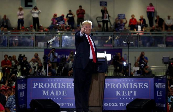 Donald Trump durante un acto.