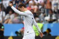 Griezmann celebra su gol ante Uruguay en cuartos de final.