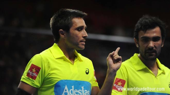 Fernando Belasteguín y Pablo Lima, durante el partido de cuartos de final.