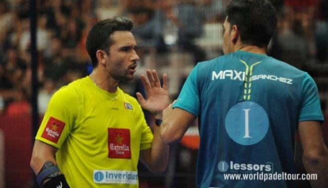 Sanyo y Maxi, durante la semifinal de Valencia.