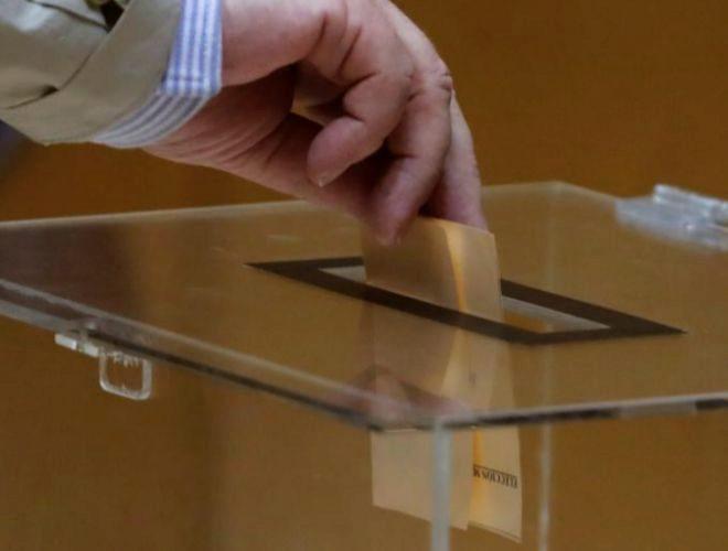 Momento de la votación de los miembros del Consejo de RTVE.