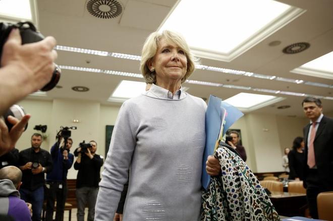 Esperanza Aguirre, en la comisión de investigación de la...