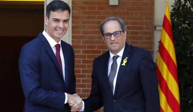 Pedro Sánchez y Quim Torra recuperan la comisión bilateral Estado-Generalitat y prevén otra reunión en otoño