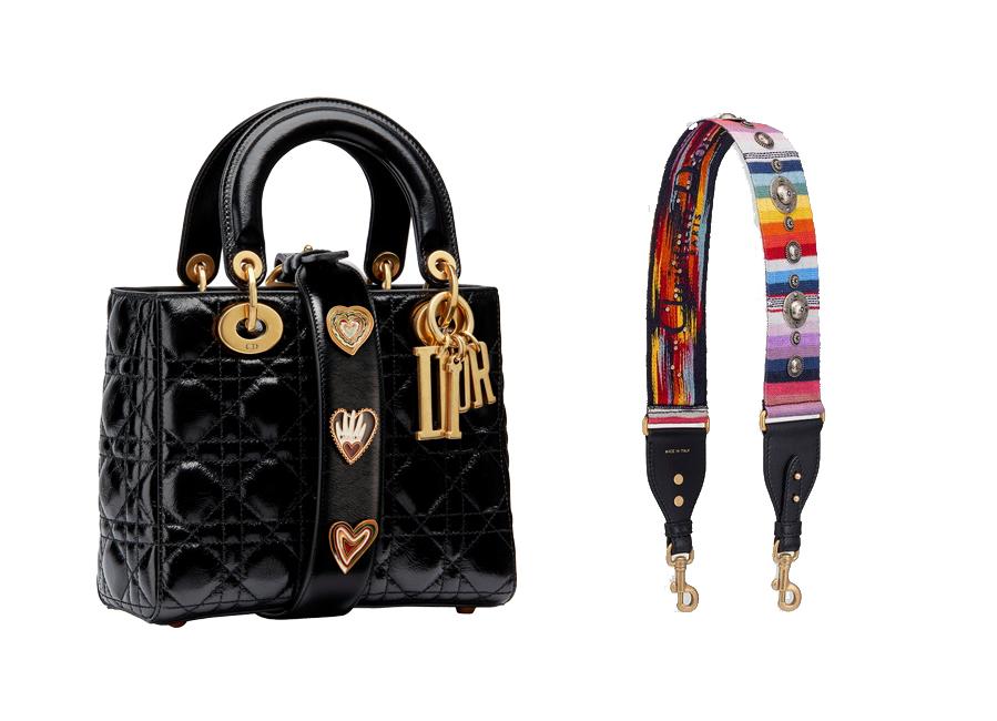 El bolso Lady Dior (2.450 euros) se renueva con esta correa de tela...