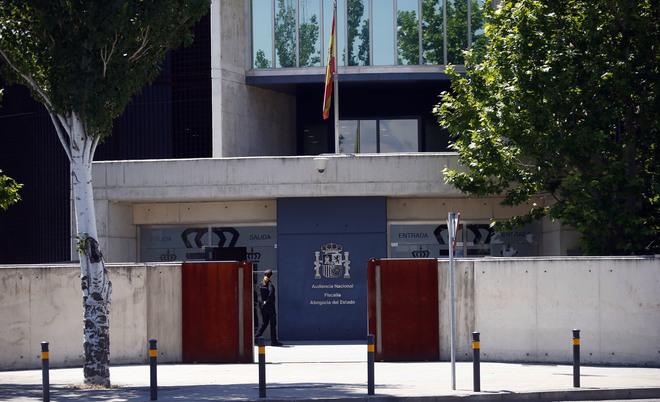 Edificio de la sede de la Audiencia Nacional, en Madrid.