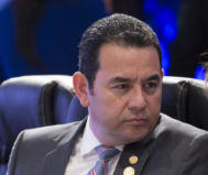 El Presidente de Guatemala, Jimmy Morales, en una imagen reciente.