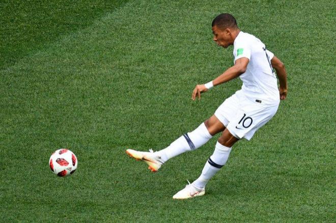 Kylian Mbappe durante uno de los partidos de Francia en el Mundial de...